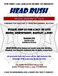Head Rush Presented by VFW 1384 & Task Force Vet Visits, Inc.\Lutz Buddy UP-MA @ VFW 1384